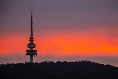 Telstra Tower Sunset